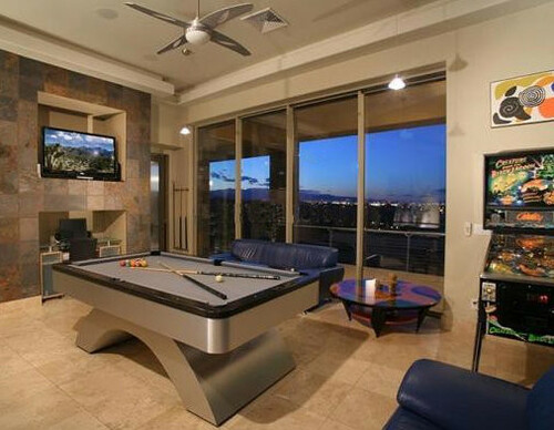 American Made Metal Arch Pool Table full view 2