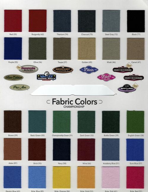 Championshop Fabric cloth for Breckenridge Pool Table