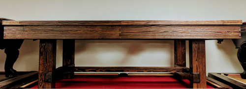 Solid Oak Breckenridge Pool Table front view