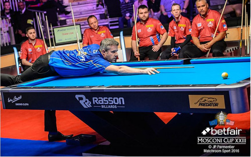 Tournament Size Rasson Commercial Pool Table - Tournament match