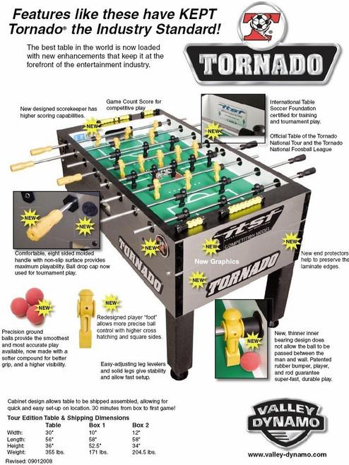 Tornado Tournament T 3000 Foosball Table - view 2