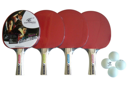 Cornilleau Quattro Indoor Paddle 4 Player Set - Thumbnail 2