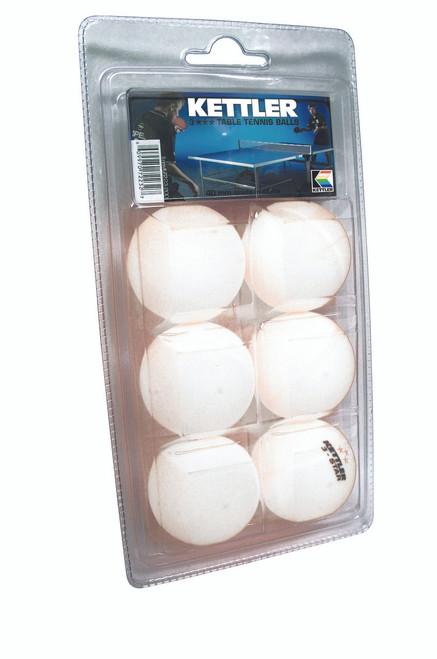 Kettler Ping Pong Balls For Sale, 3Star, Pkg of 6 - Thumbnail 1