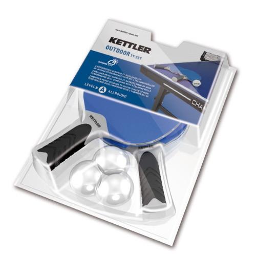 Kettler Halo 5.0 Outdoor Table Tennis Racquet Set - Thumbnail 1