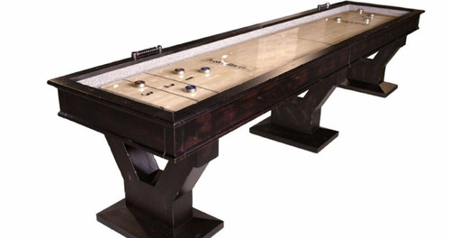 Plank and Hide Gaston Shuffleboard Table
