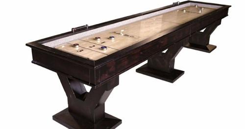 Plank and Hide Gaston Shuffleboard Table - Thumbnail 1