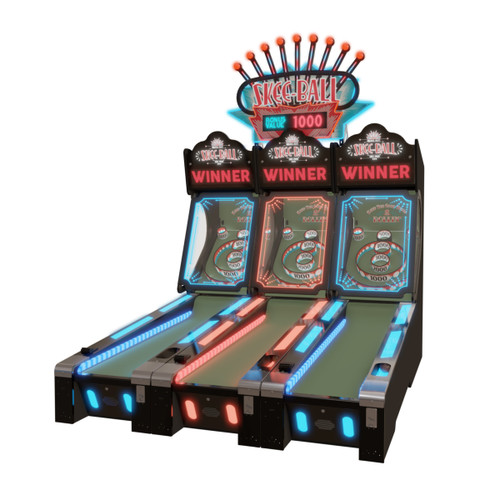 Skee-Ball Glow Alley Skeeball Machine