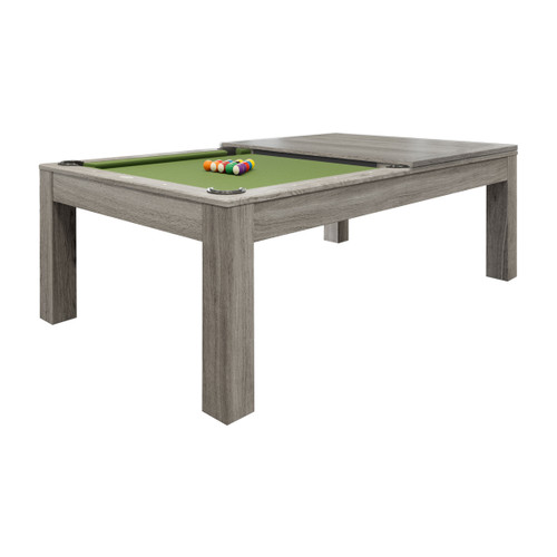 Penelope Silver Mist (II) Pool Table w/Dining Top
