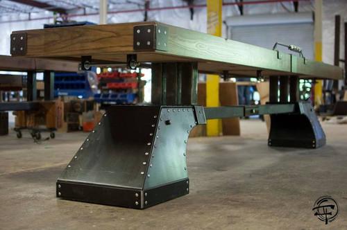 KUSH Maxwell Shuffleboard Table with Accessories - Thumbnail 2