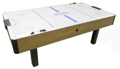 Dynamo 7 foot Arctic Wind Oak Air Hockey Table - Thumbnail 1