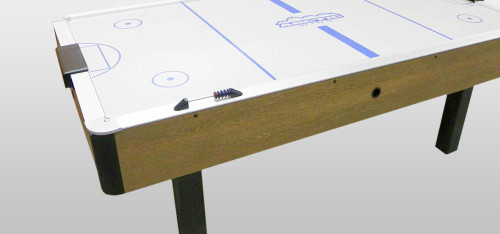Dynamo 7 foot Arctic Wind Oak Air Hockey Table - Thumbnail 2