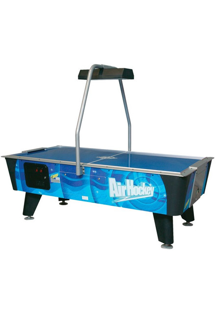 Dynamo 7Ft Blue Streak Air Hockey Table -  Coin operated with overhead electronic scoring - Thumbnail 1