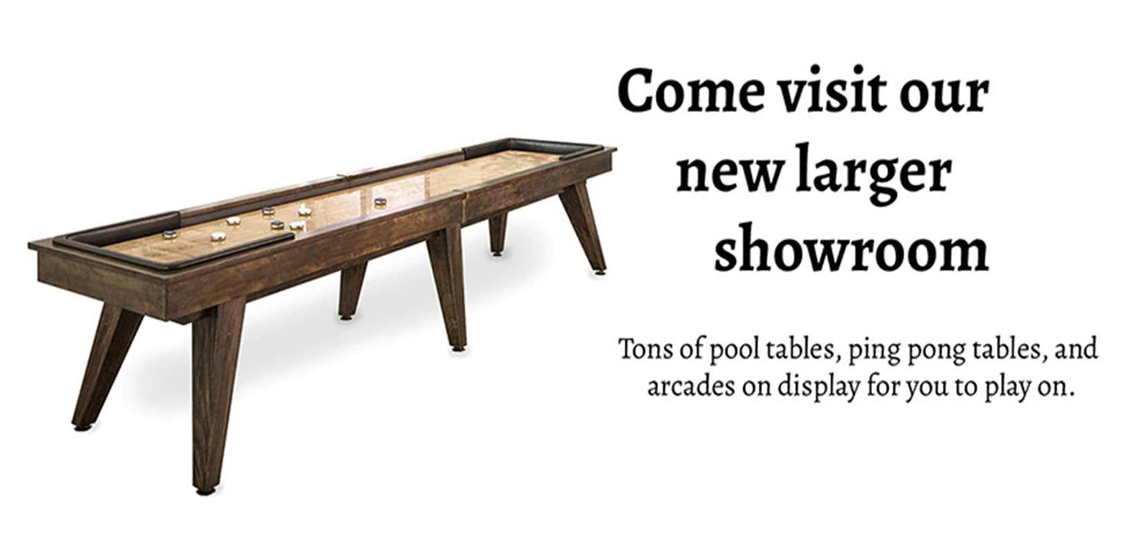 Collections of Pool tables, ping pong tables & arcades