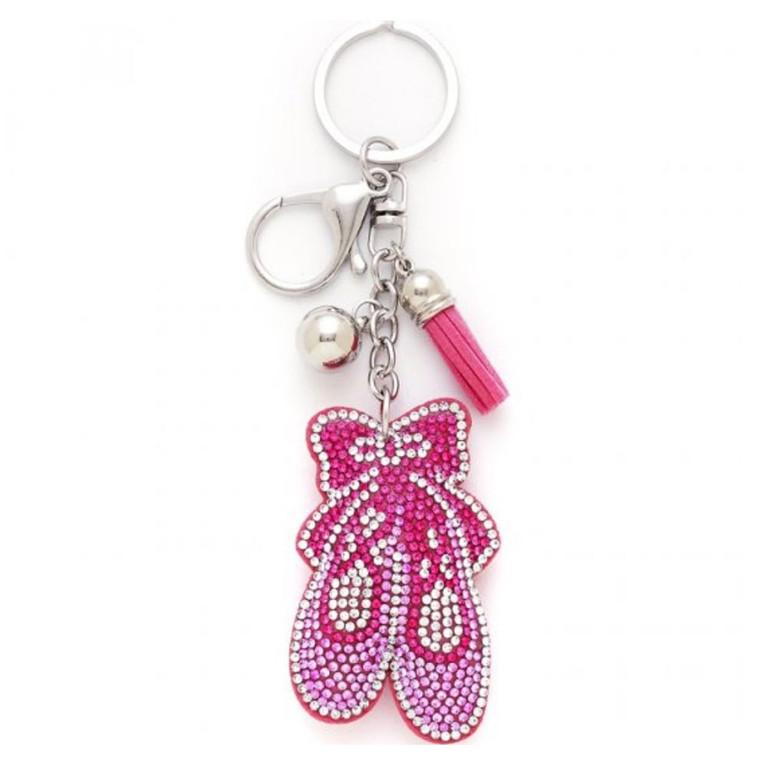 2821 Puffy Ballet Shoe Keychain
