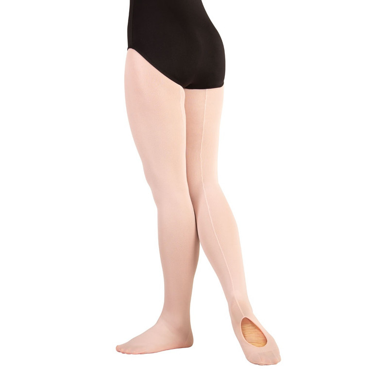 Body Wrappers A45 Transition/Convertible Mesh Tights with Backseam