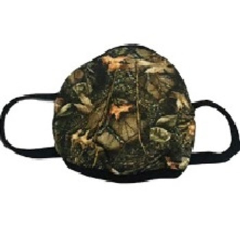 WFS Burly Camo Reusable Face Mask With Replaceable Filters
