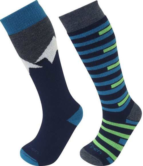 Lorpen Kid's T1 Merino Ski 2 Pair Sock Set