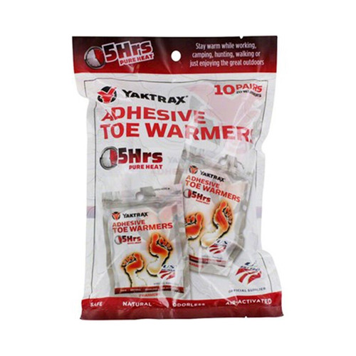 Yaktrax Adhesive Toe Warmers 10-Pack