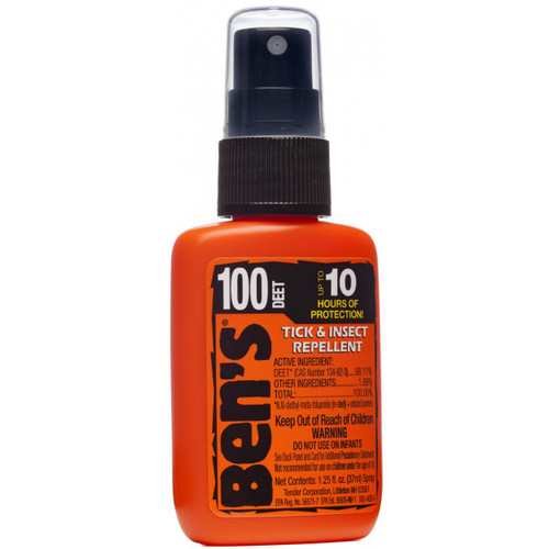 Ben's 100% Deet Tick & Insect Repellent, 1.25oz Pump