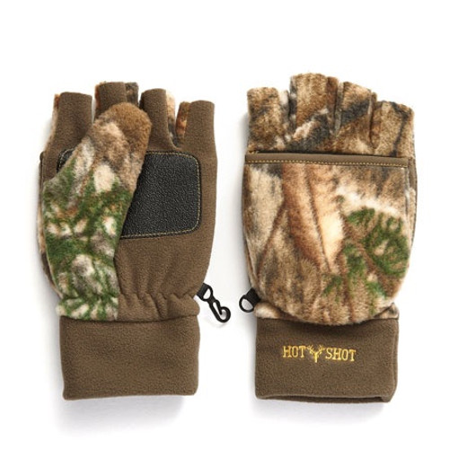 Hot Shot Bulls-Eye Realtree Edge Fleece Pop-Top Mitten