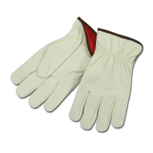 RefrigiWear Men's Leather Fleece Lined Driver Gloves