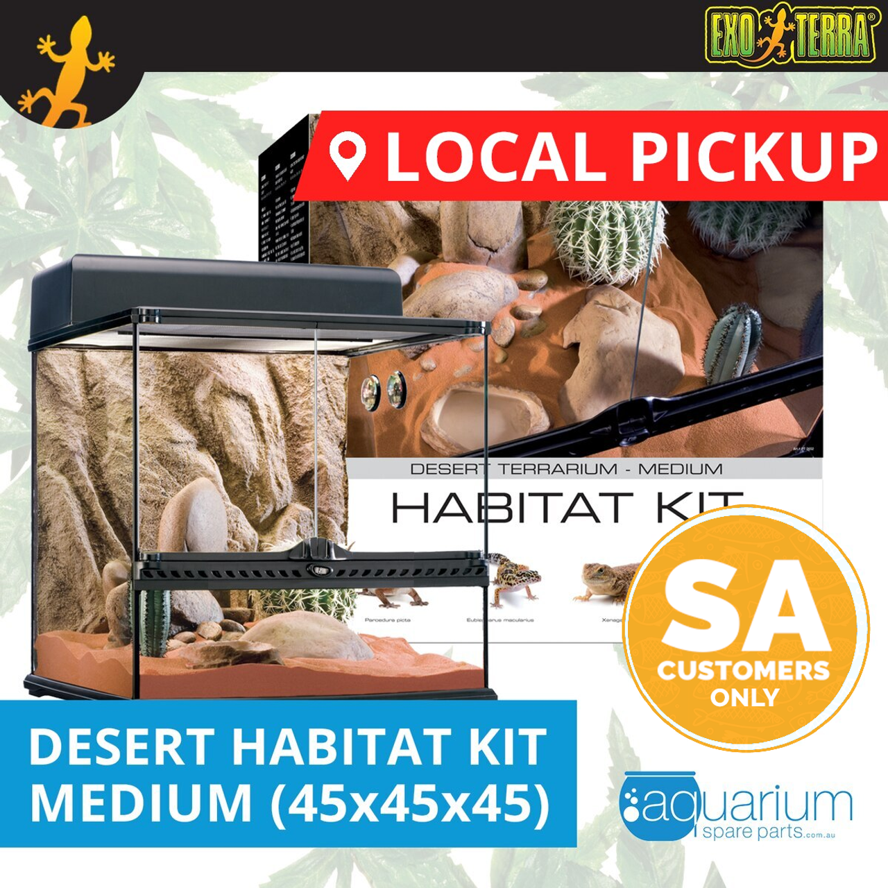 Local Pickup Exo Terra Terrarium Desert Habitat Kit Medium 45x45x45cm