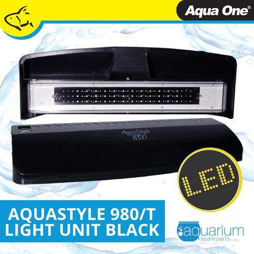Aqua One AquaStyle 980/980T Complete LED Light Unit Black (11214GBK)