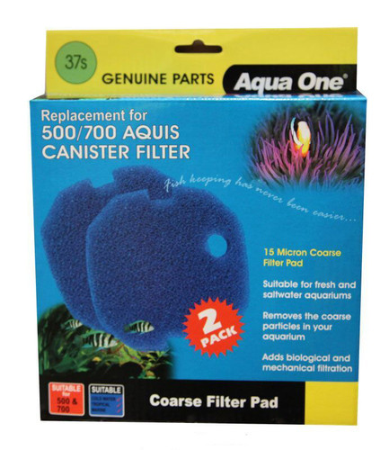 Aqua One Aquis 500/700 Sponge Pad - 15ppi (2pk) 37s (25037s)