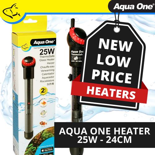 Aqua One Thermosafe Heater 25w - 24cm (94121)
