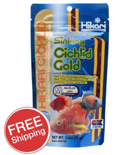 Hikari Sinking Cichlid Gold Medium 100gm (KH04720)