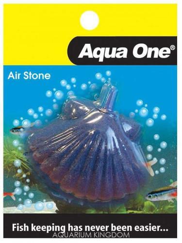 Aqua One Airstone Shaped Shell Fish 7.5cm X 5.5cm Large (10351)