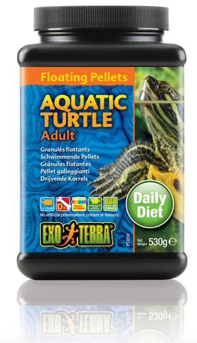 Exo Terra Aquatic Turtle Food Adult Floating Pellets - 530 gm (PT3255)