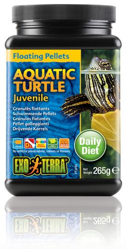 Exo Terra Aquatic Turtle Food Juvenile Floating Pellets - 265 gm (PT3249)