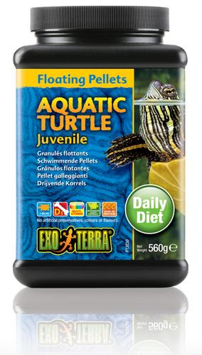 Exo Terra Aquatic Turtle Food Juvenile Floating Pellets - 560 gm (PT3250)
