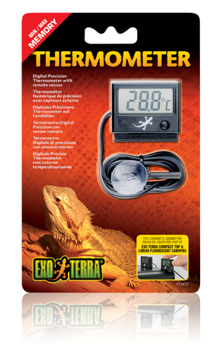Exo Terra LED Thermometer with Probe/Light (PT2472)