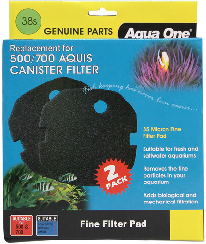 Aqua One Aquis 500/700 Sponge Pad - 35ppi (2pk) 38s (25038s)