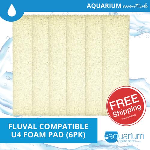 Fluval U4 Compatible Foam Pad (6pk)