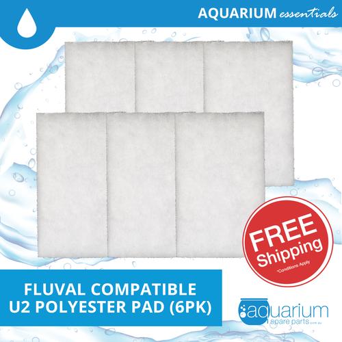 Fluval U2 Compatible Polyester Pad (6pk)