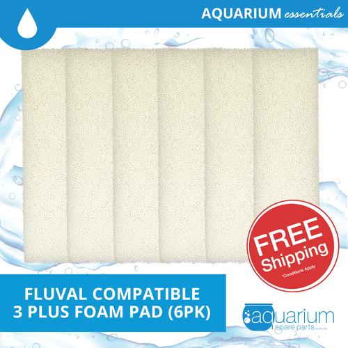 Fluval 3 Plus Compatible Foam Pad (6pk)