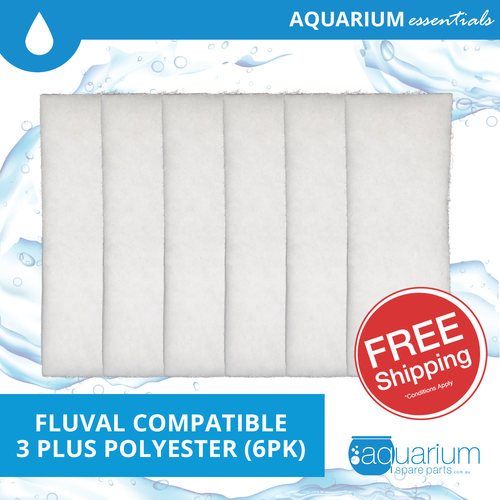 Fluval 3 Plus Compatible Polyester Pad (6pk)
