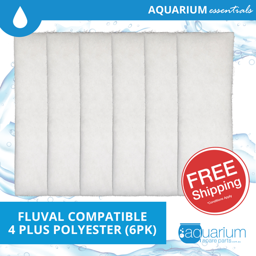 Fluval 4 Plus Compatible Polyester Pad (6pk)