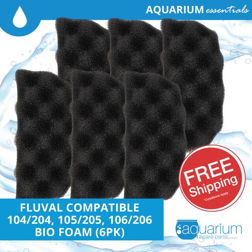 Fluval 104/204 & 105/205 & 106/206 Compatible Bio Foam (6pk)
