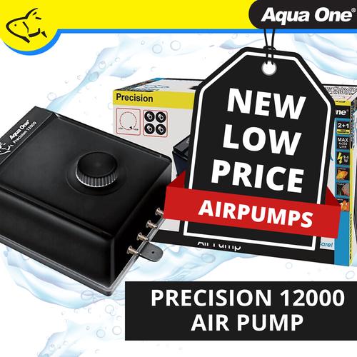 Aqua One Precision 12000 Air Pump 4 Outlet 4x200lh (10048)