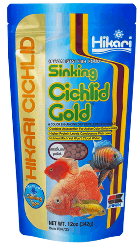 Hikari Sinking Cichlid Gold Med 342gm (KH04733)