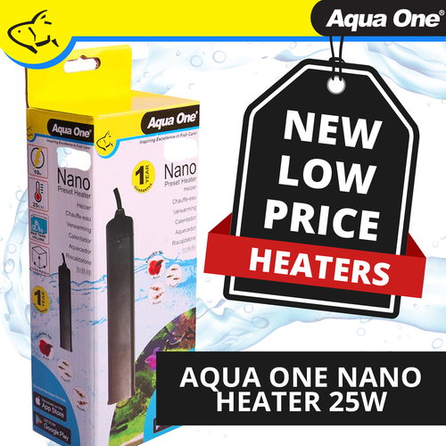 Aqua One Nano Plastic Preset Heater 25W (15045)