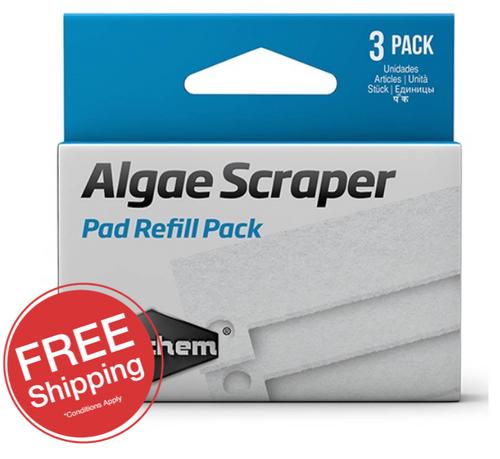Seachem Algae Scraper 3 in 1 Replacement Pads (3pk)