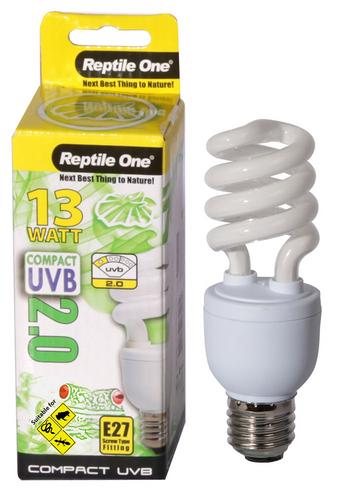 Reptile One Compact UVB Bulb 13W UVB 2.0 E27 Fitting (46695)