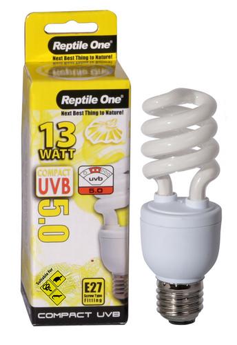 Reptile One Compact UVB Bulb 13W UVB 5.0 E27 Fitting (46696)