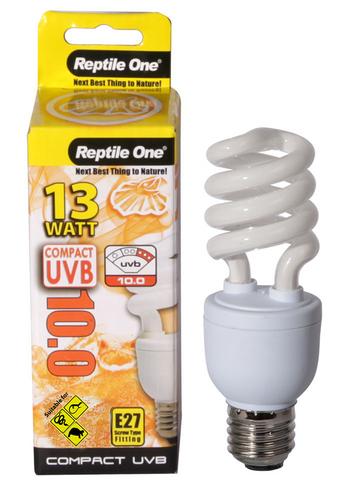 Reptile One Compact UVB Bulb 13W UVB 10.0 E27 Fitting (46697)