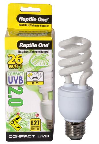 Reptile One Compact UVB Bulb 26W UVB 2.0 E27 Fitting (46698)